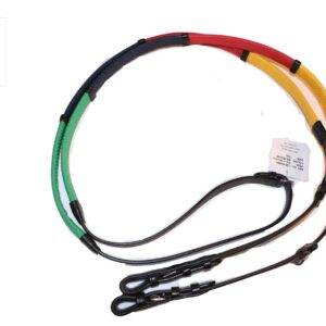Multi Colored Rubber Grip Training Reins