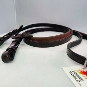 Leather Half Rubber Show Half Lined Reins